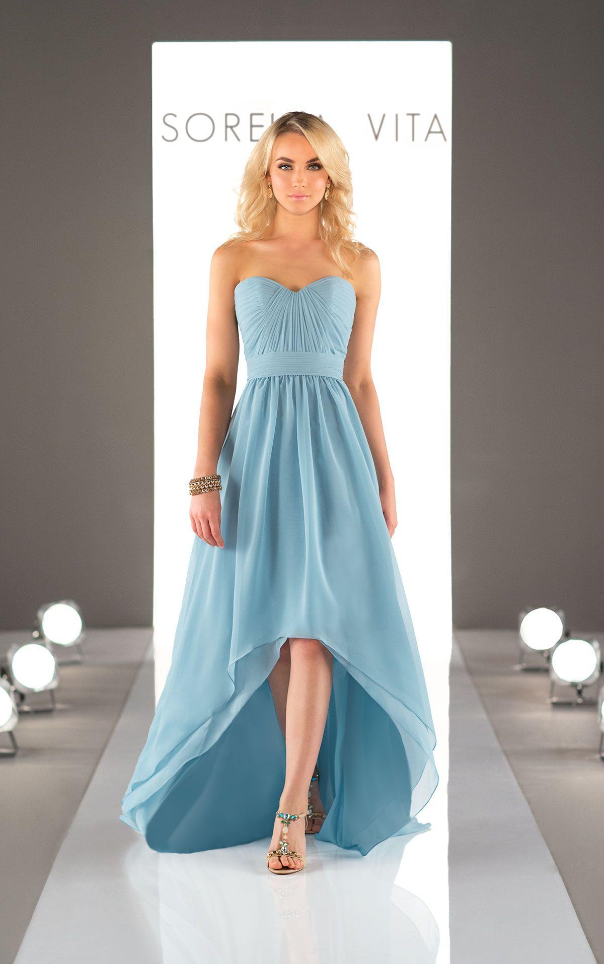 Chiffon High Low Bridesmaid Dress