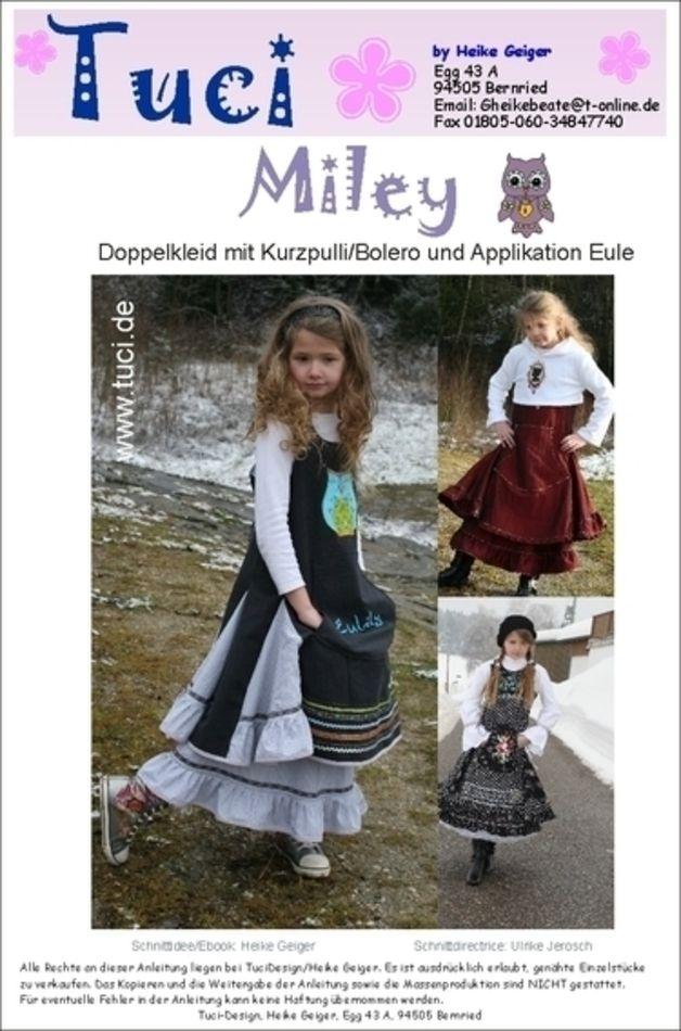 E-Book//Schnittmuster in PDF Format Kinderkleid Etuikleid Mylie per EMail