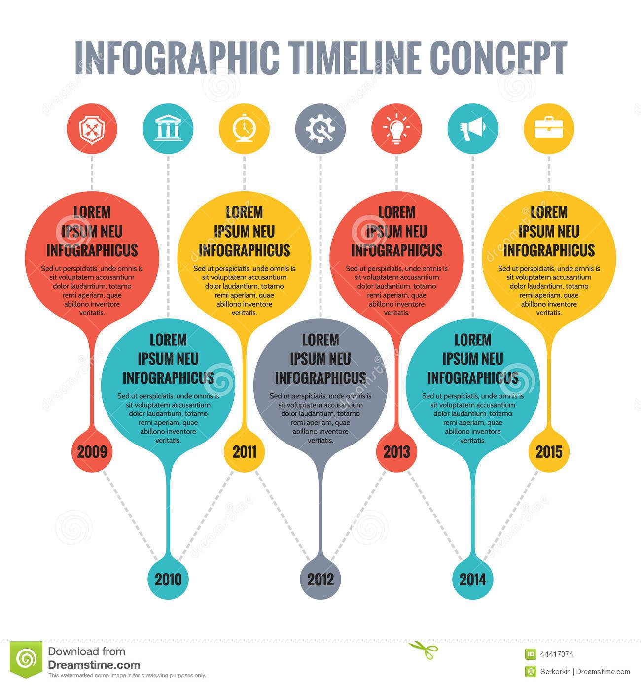 Infographic Vector Concept Flat Design Style Timeline Template Presentation Booklet Web Other Creative Projects 44417074jpg 13001390