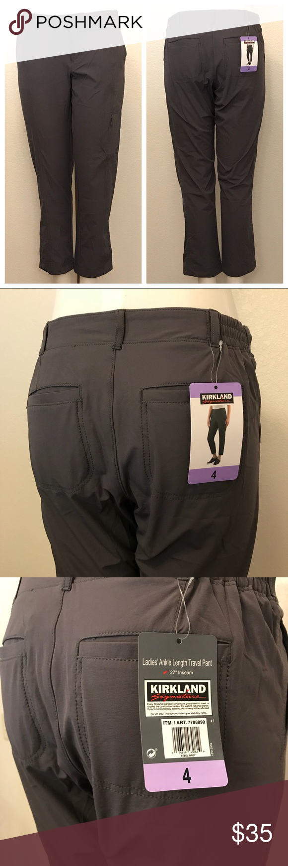 1d3be82ff49af Kirkland Signature Ladies Ankle Length Travel Pant Size 4. 27 inch inseam.  New with tags. Offers and bundle offers are welcome! Kirkland Signature  Pants