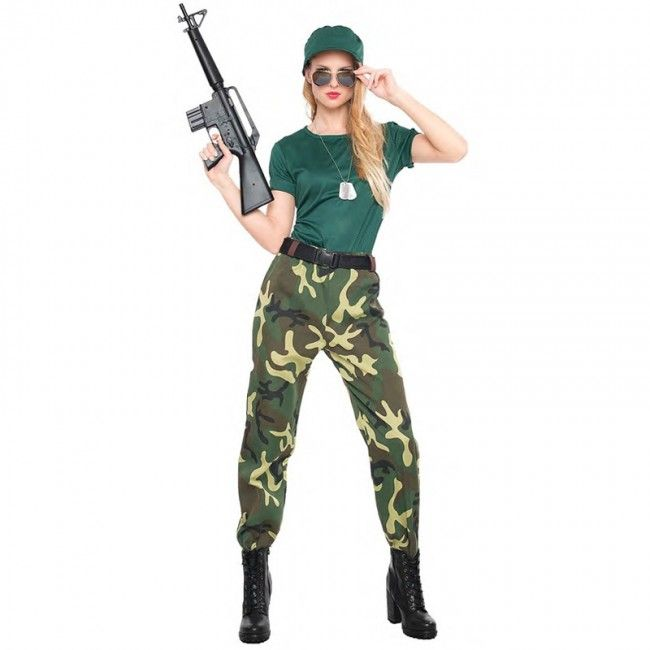 Disfraz de Paramilitar para mujer  disfraces  carnaval  novedades2017 051adb240c45