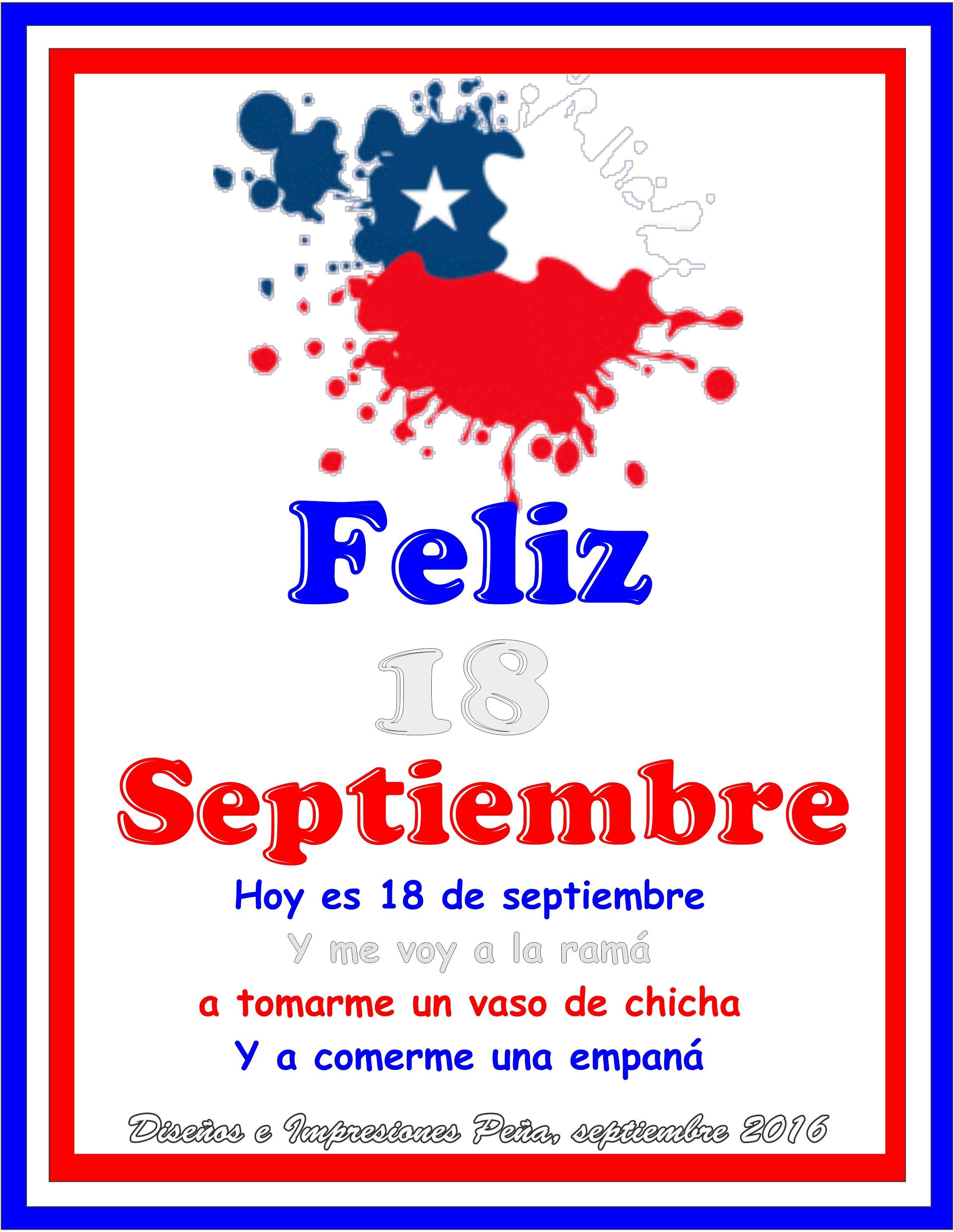 Celebración 18 De Septiembre Diseños E Impresiones Peña Dimpena Valparaiso Chile Invitaciones De Fiesta Disenos De Unas Invitaciones