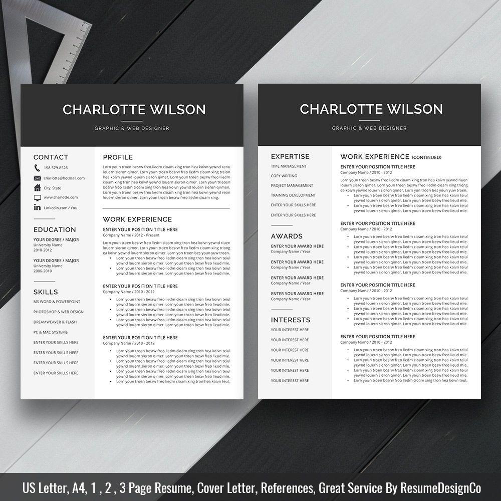 Ms word resume cv template curriculum vitae