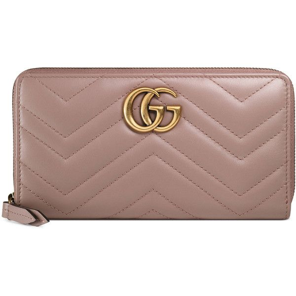 6a95bb83681 Gucci Gg Marmont Zip Around Wallet ( 690) ❤ liked on Polyvore featuring bags