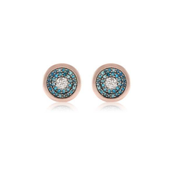 Rose Gold Evil Eye Ring Blue Diamond Monica Vinader 4W8iQ