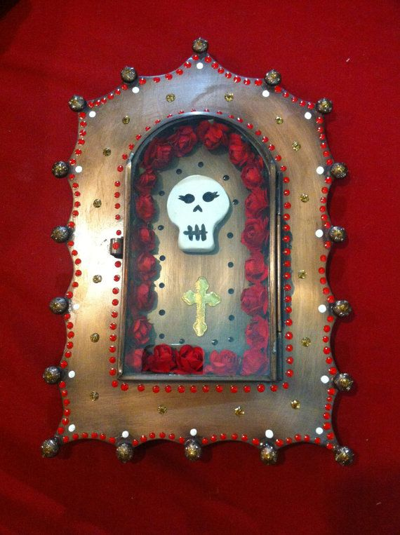 Arched Dia de Los Muertos Nicho by Ruvalcabab