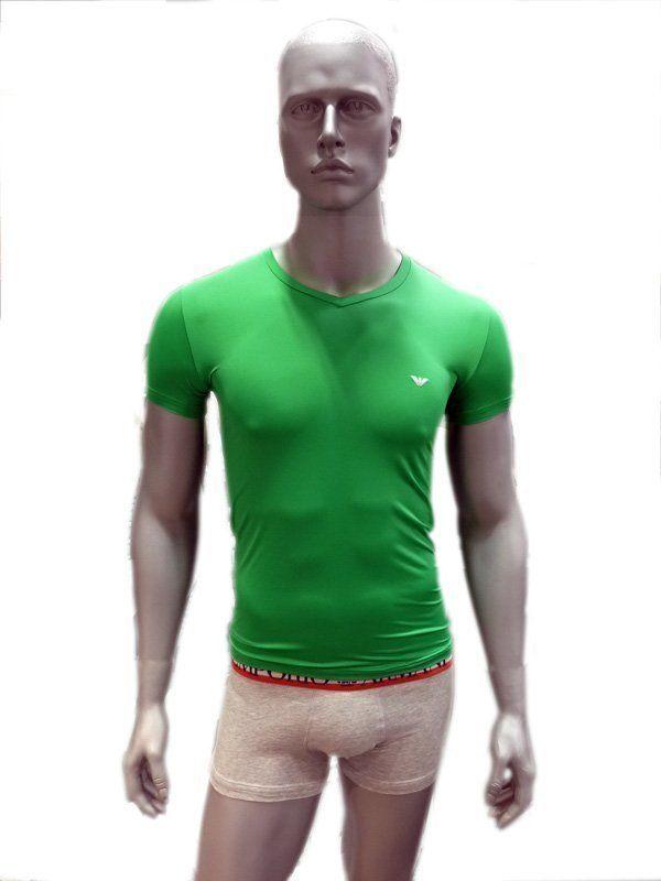 474ccc1fe736e Tienda De Ropa Interior Masculina En Valencia   Camiseta emporio armani  microfibra para hombres