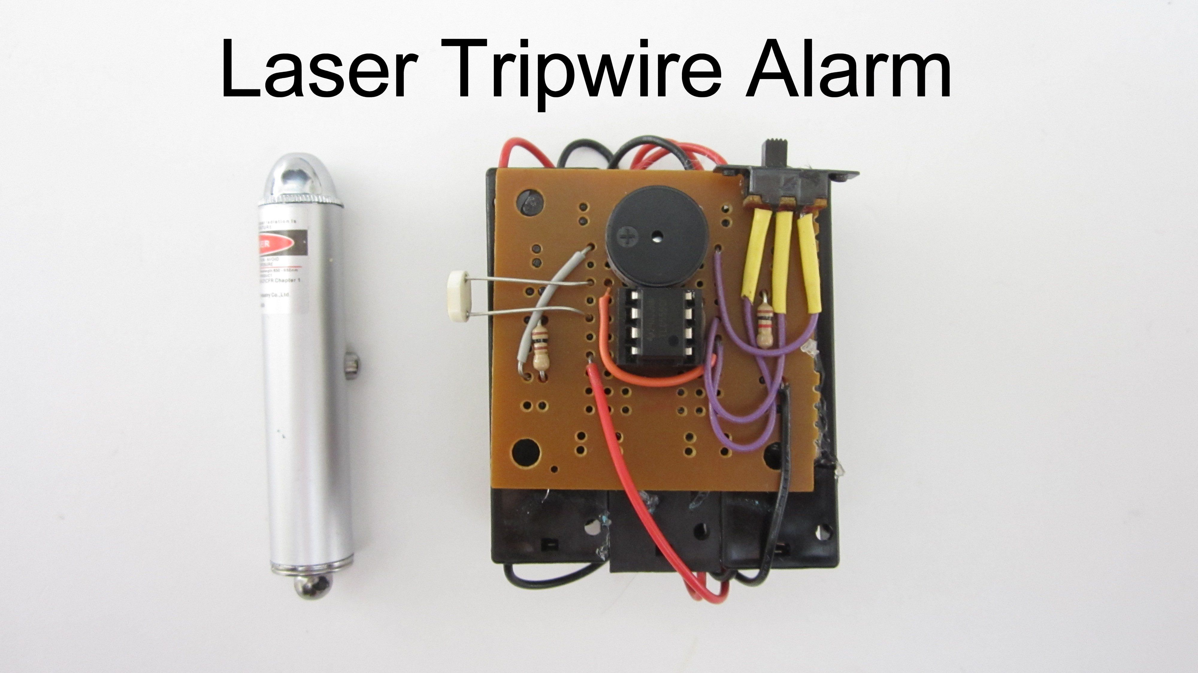 Laser tripwire alarm survival diy stuff and emergency preparedness so in this project i am going to show you how to build a laser tripwire alarm from a laser point a couple of solutioingenieria Gallery