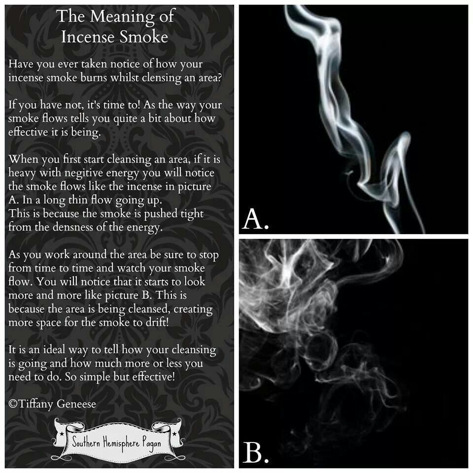 Meaning of incense smoke patterns | Magick | Incense, Smudging