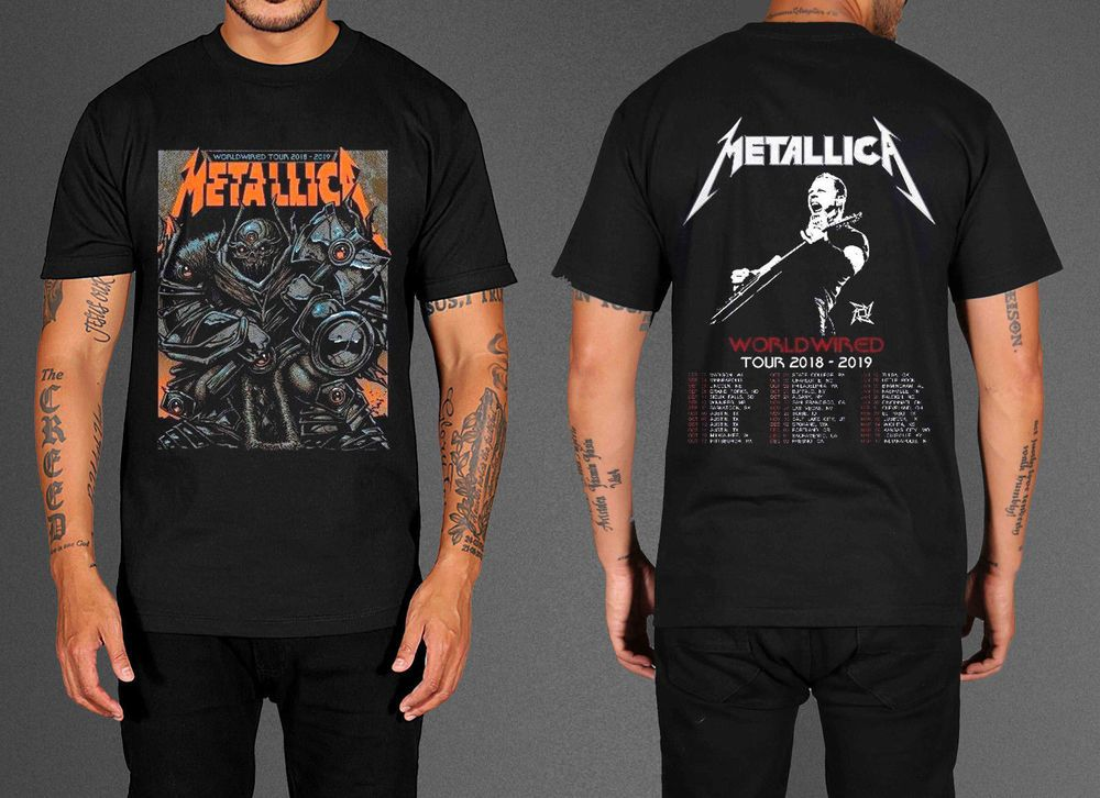 dc7a2dbe64c New Popular Metallica T-Shirt Hard Wired World Tour 2018-2019 Tee ...