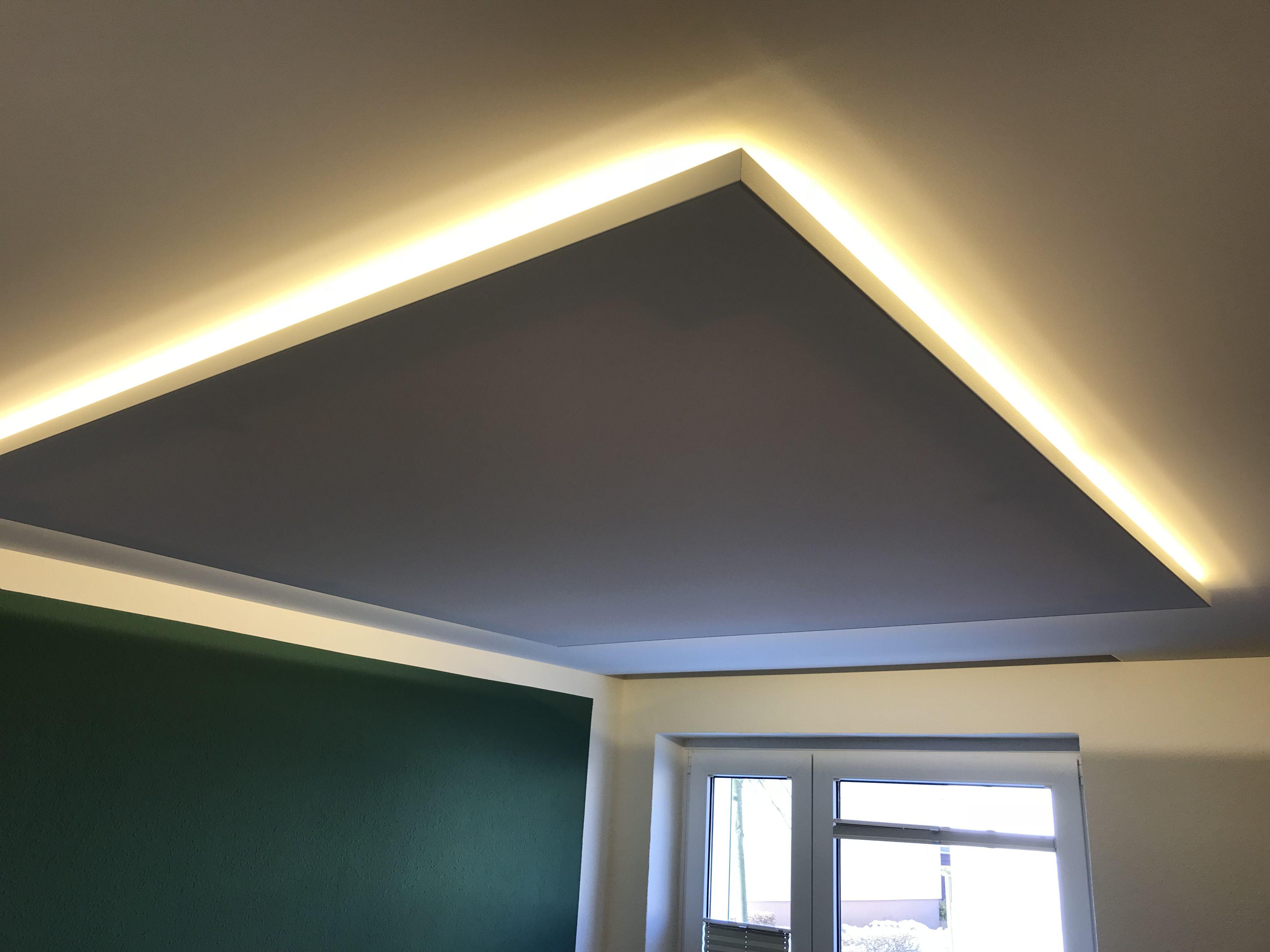 Deckensegel Mit Indirekter Beleuchtung Indirekte Beleuchtung Beleuchtung Lampen Esszimmer