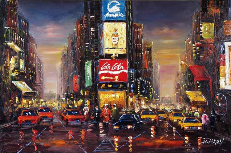 new york night painting google search night time