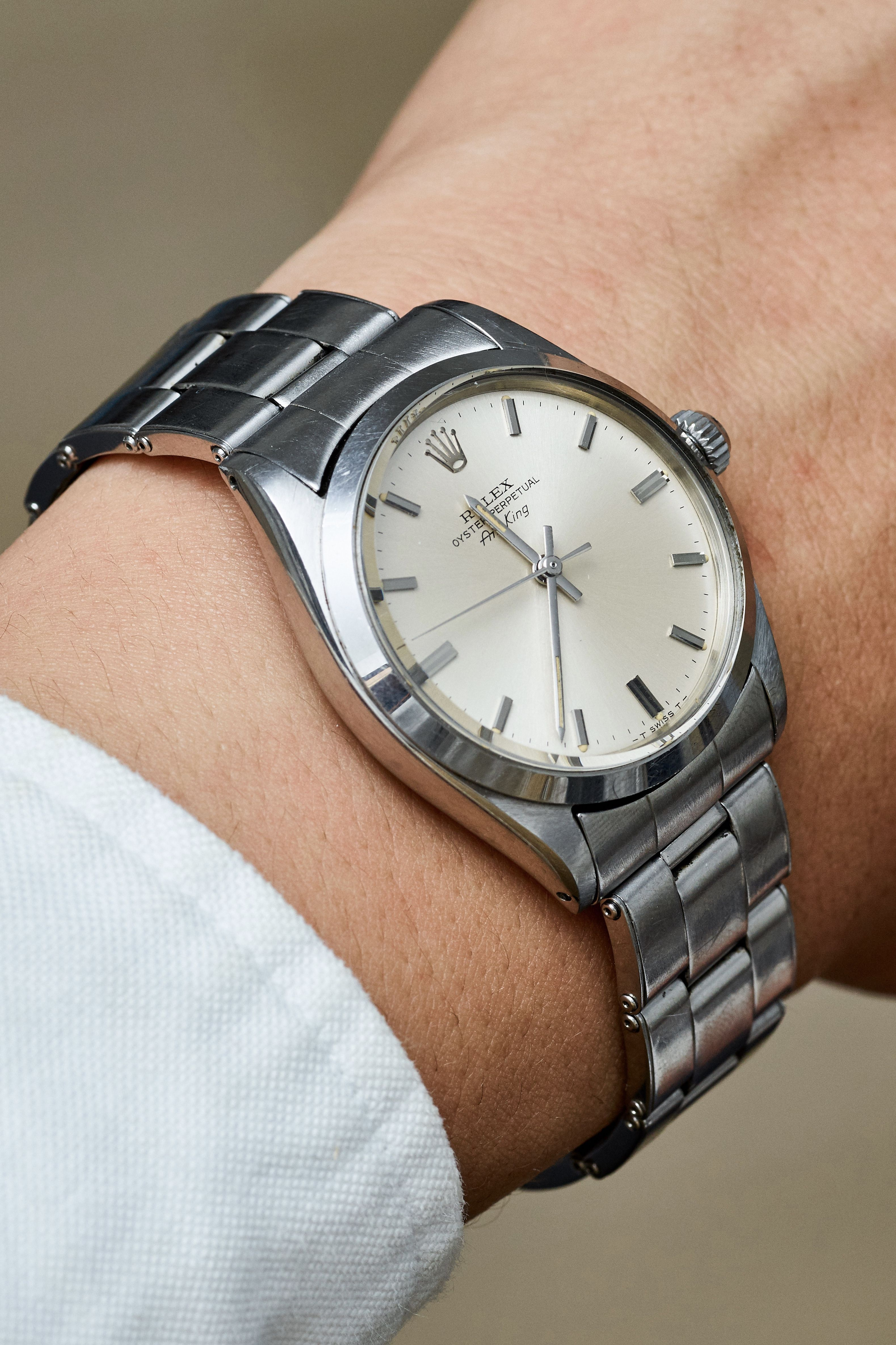 The Rolex airking was developed for pilots to wear. This