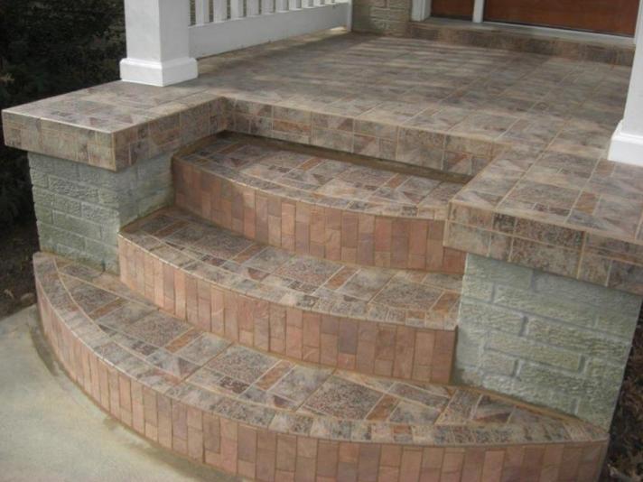 Best Tile On Front Stoop Tile Steps Exterior Tiles Front 400 x 300