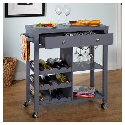 Colwood Wine Cart Gray Tms Products Wine Cart Wayfair Bar