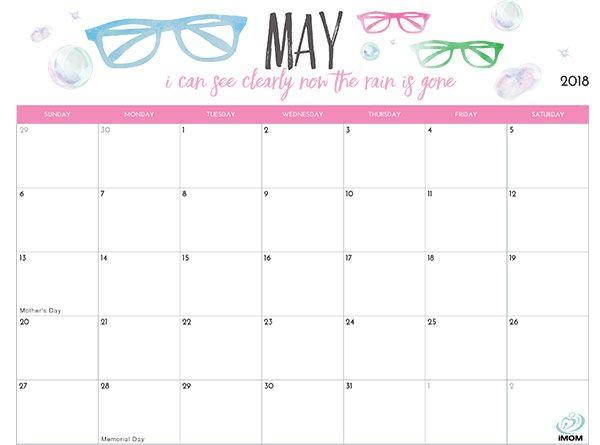 Imom 2022 Calendar.2021 Printable Calendars For Moms Imom Calendar Printables Printable Calendar 2018 Printable Calendar