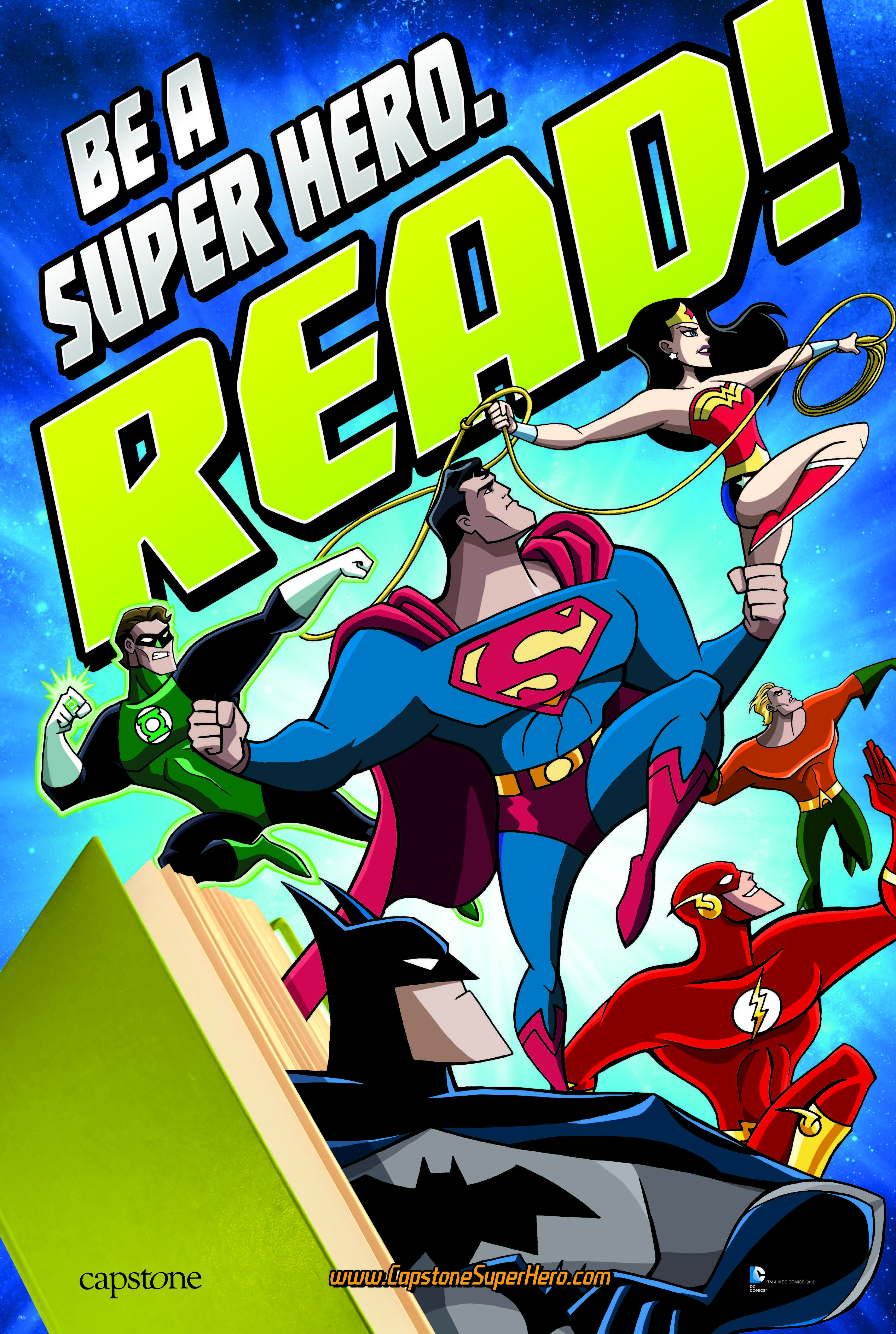 Be A Super Hero Read Poster