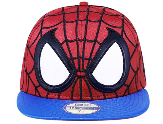 Spider Man Character Face 59Fifty Fitted Cap by NEW ERA x MARVEL ... 4f1c61f003e