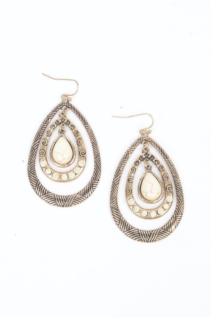 a197edebf Allie Drop Earrings Brighten up your face with the delicate charm of our  Allie Drop Earrings! Beautiful stones rest between detailed oval pendants,  ...