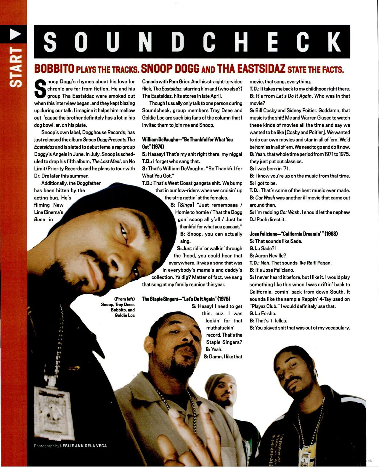 Snoop Dogg 2000 / via VIBE Magazine Google Book   Gangsta