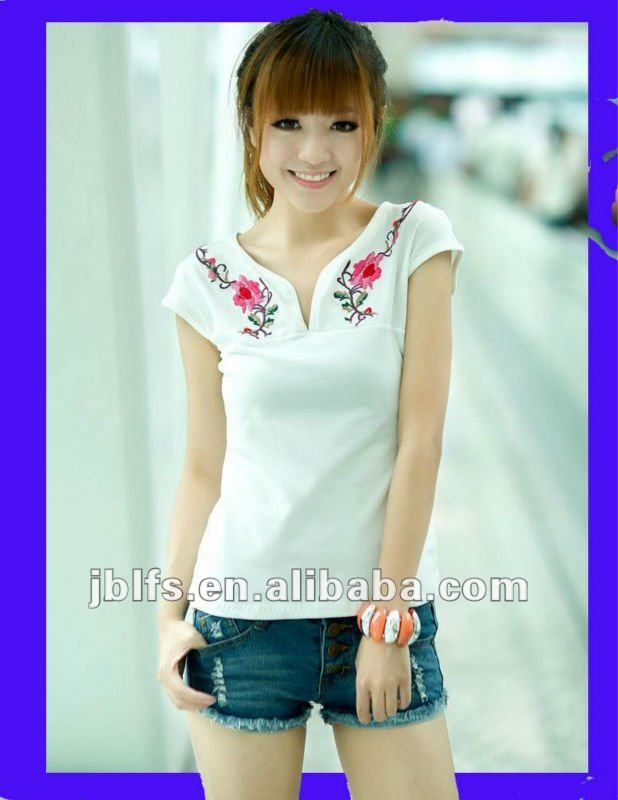 Resultado de imagen para camisas bordadas para mujer