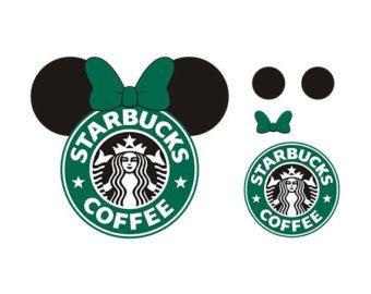 Minnie Starbucks Svg Minnie Ear Starbukcs Design Starbucks Logo Svg Files Cricut Projects Vinyl Starbucks Logo Diy Cricut
