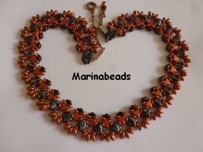 Please note that this listing is for the tutorial ONLY in ENGLISH !  Step by step beading instructions with pictures. This document includes the