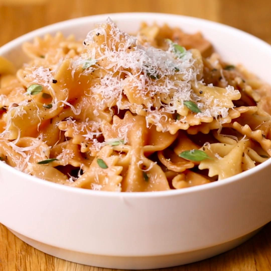Toasted Farfalle With Thyme Sauce Pasta Recipe By Tasty Recipe Pasta Recipes Stuffed Peppers Recipes