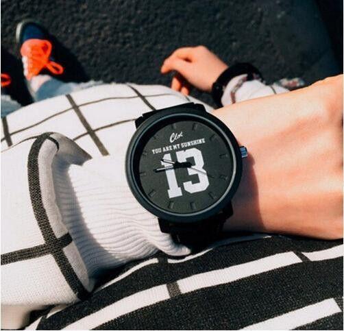 Fashion Brand 1314 Leather Strap Unisex Watches Men Quartz Women Dress Watch Sports Military Relojes Geneva Wristwatch AB929