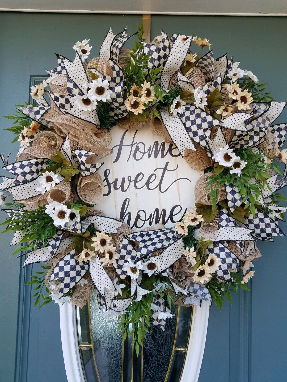 Front Door Wreath / Farmhouse Wreath / Year Around Wreath