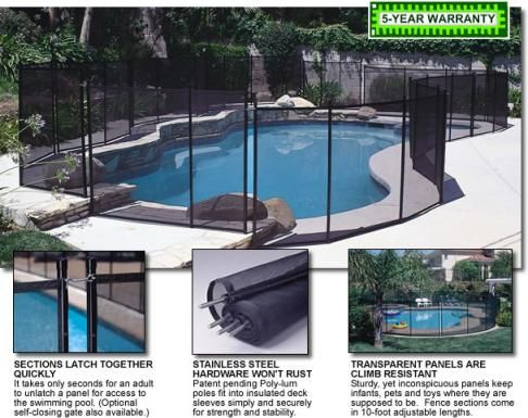 Gli Removable Mesh Safety Pool Fence Pool Landscaping Diy Pool