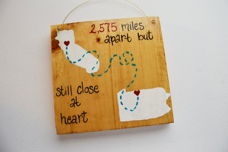 Best Friend Gift Wood Friendship Sign Long Distance Sign