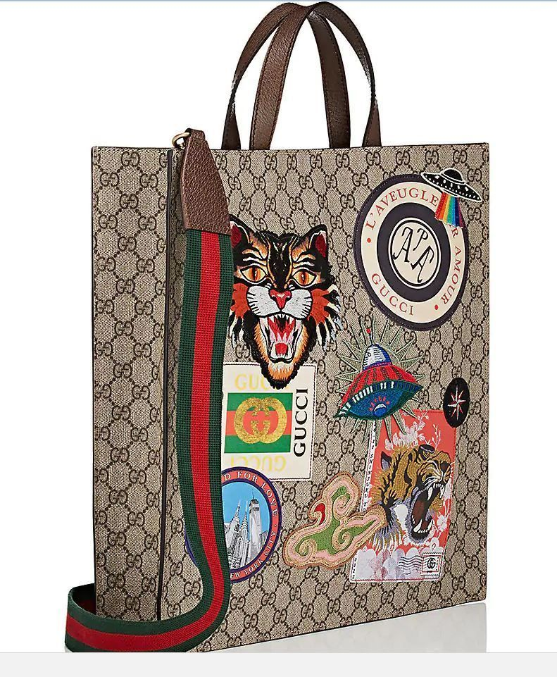 3023f03124e7 Gucci GG Supreme Tote Unisex Patch Tote Bag #purses #fashion ...