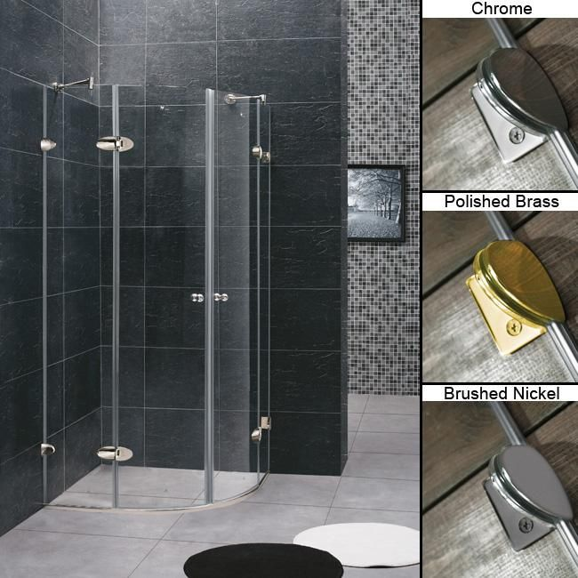 round shower kits corner. Add a contemporary look to your bathroom with this Vigo frameless shower  enclosure Featuring