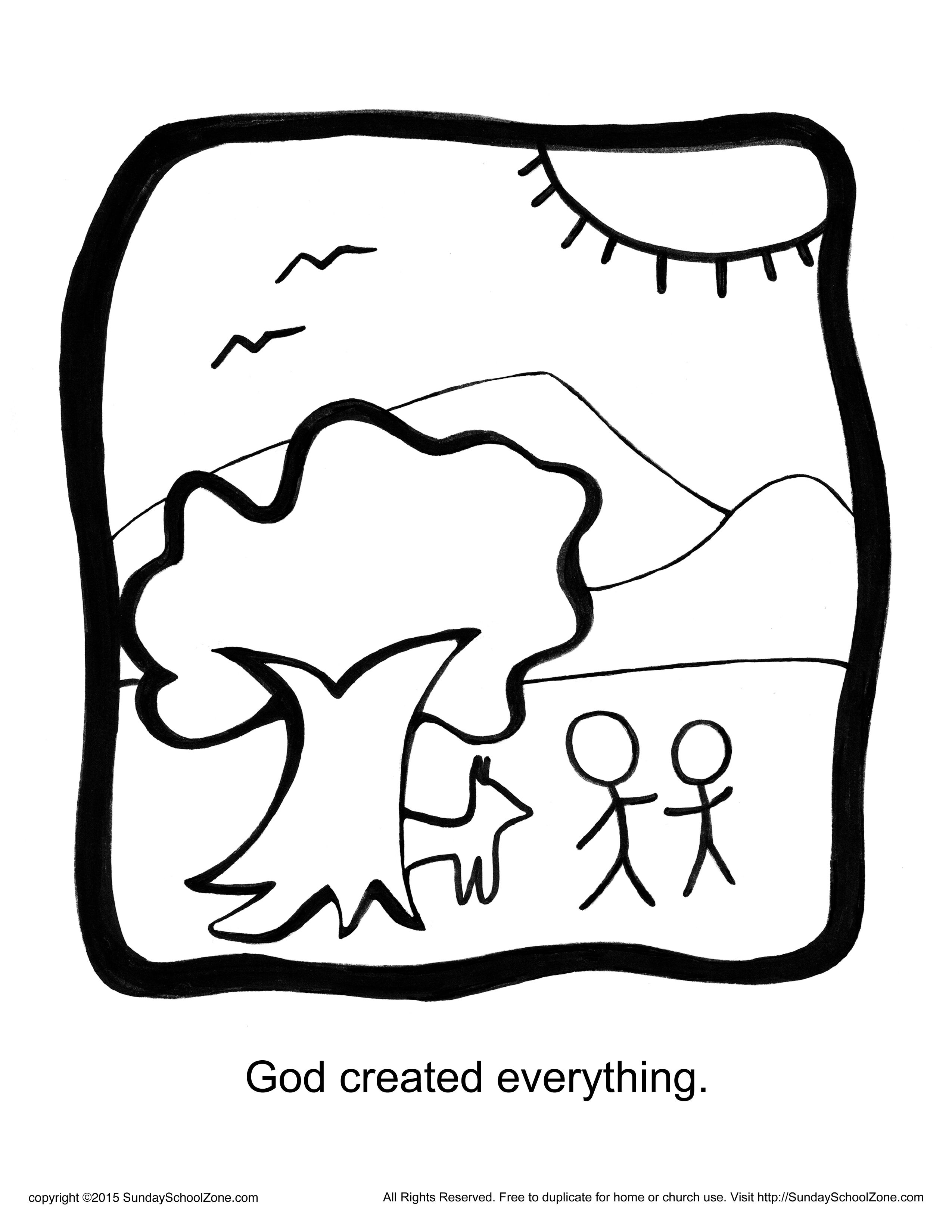 Free coloring page god made everything