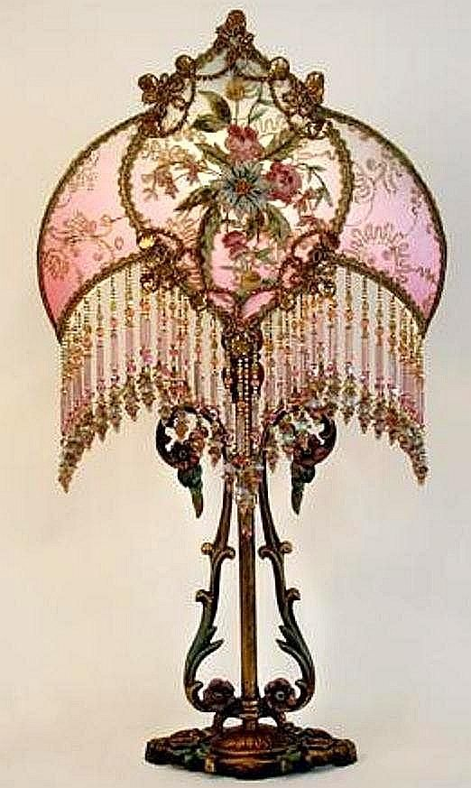 Silk ribbon work lamp with glass bead fringe silk ribbon work lamp with glass bead fringe antiqueorvintagelamps victorian lamp shadesvictorian aloadofball Gallery