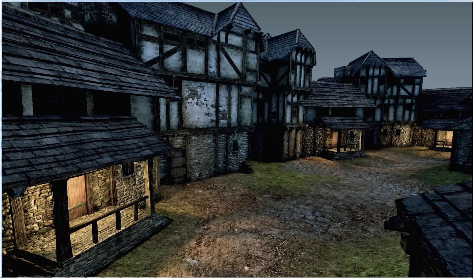 Medieval village udk polycount the town pinterest for Village town
