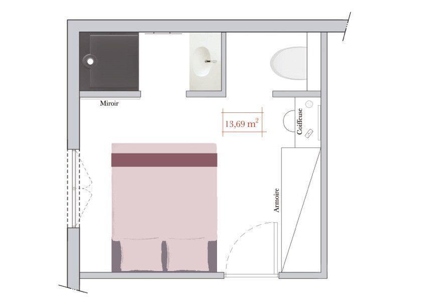 Conseils d\'architecte : comment aménager une chambre carrée ...
