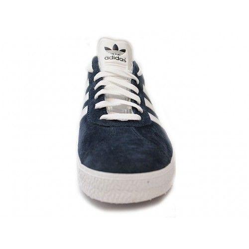 taille 40 29fdf 368e0 Adidas Gazelle Marine with White Stripe. The classic Adidas ...