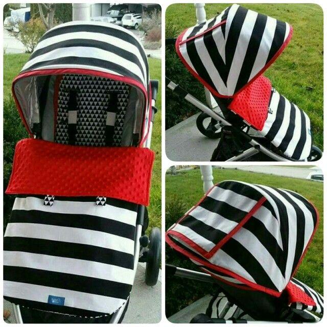 DIY UPPAbaby Vista stroller canopy cover reversible seat liner and foot pocket blanket & DIY UPPAbaby Vista stroller canopy cover reversible seat liner ...