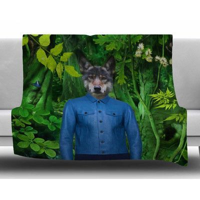 KESS InHouse Into the Leaves N3 by Natt Fleece Blanket