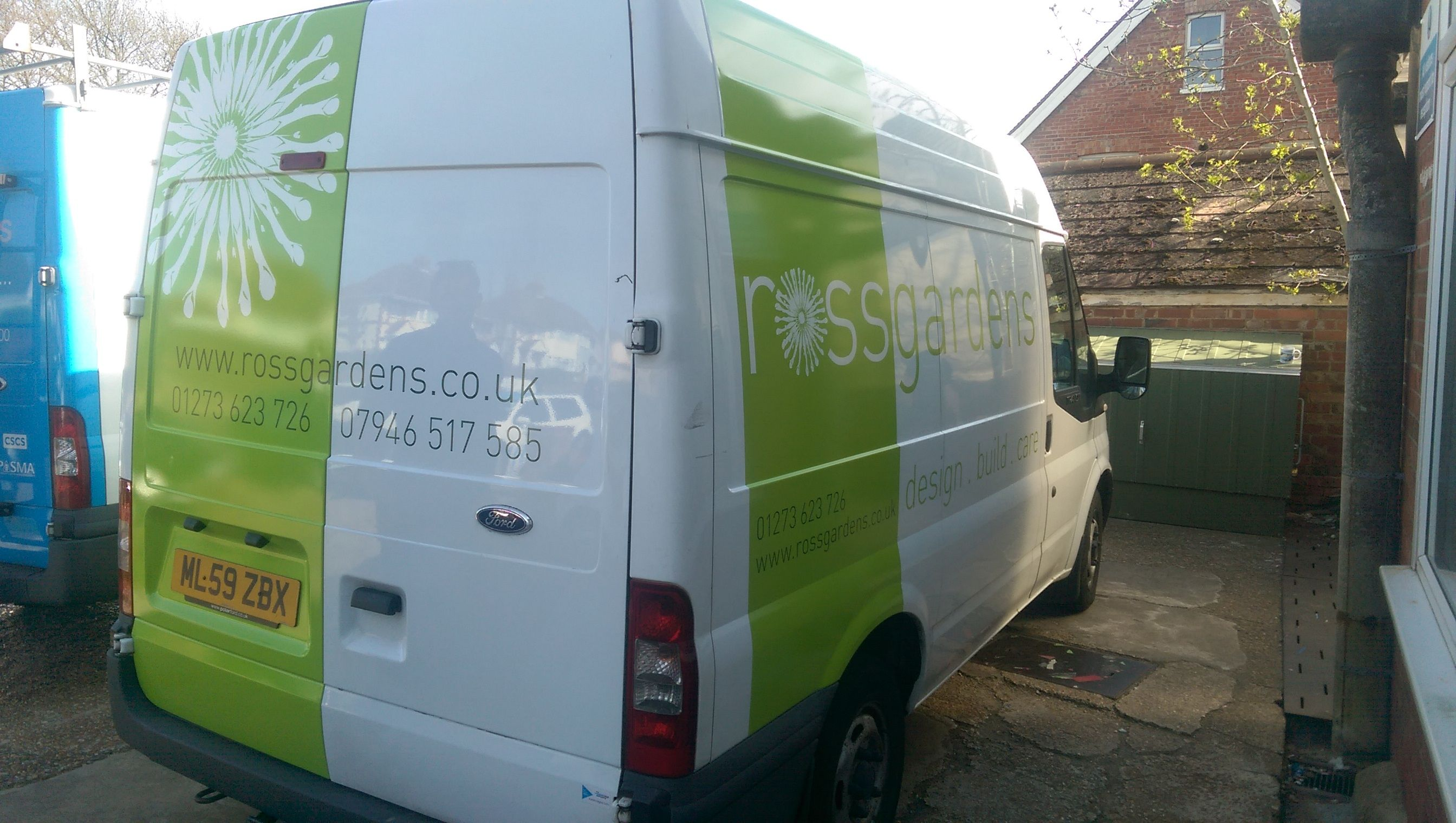 Ross Gardens Partial Wrap Done By The Sussex Sign Company Sign