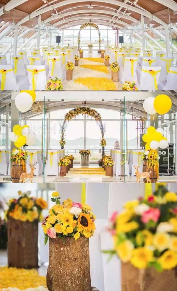 Sunflowers Wedding Party Inspirations Themed Wedding Pinterest