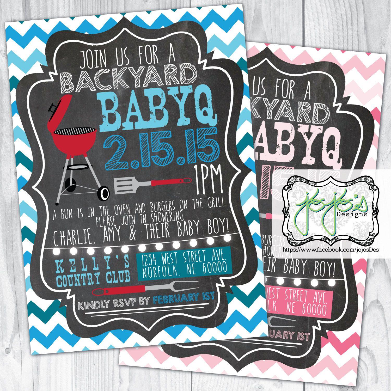 backyard bbq couple u0027s baby shower chevron and chalkboard vintage