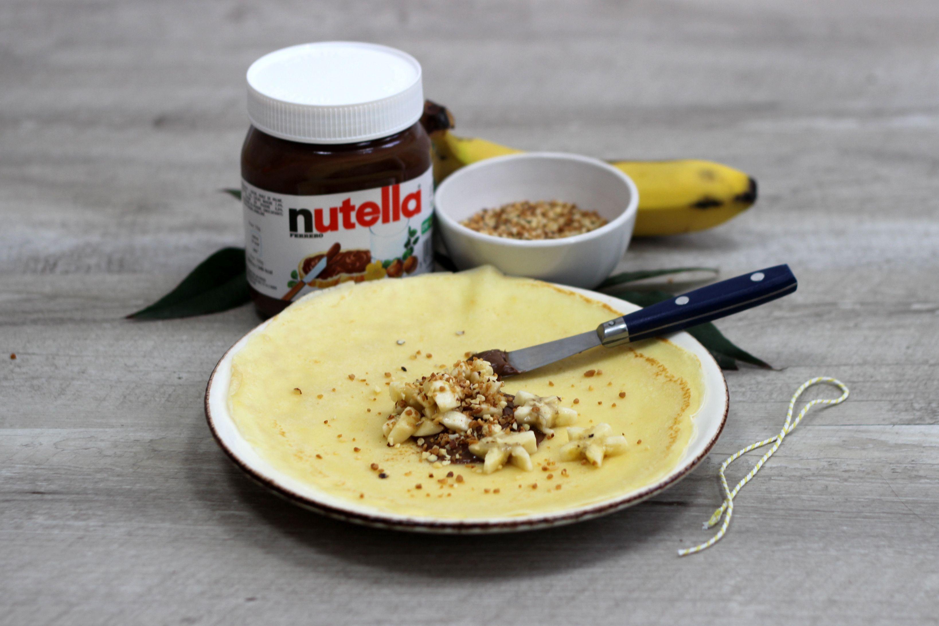 Recette de crêpe aumônière à la banane, pralin et Nutella, pour la Chandeleur