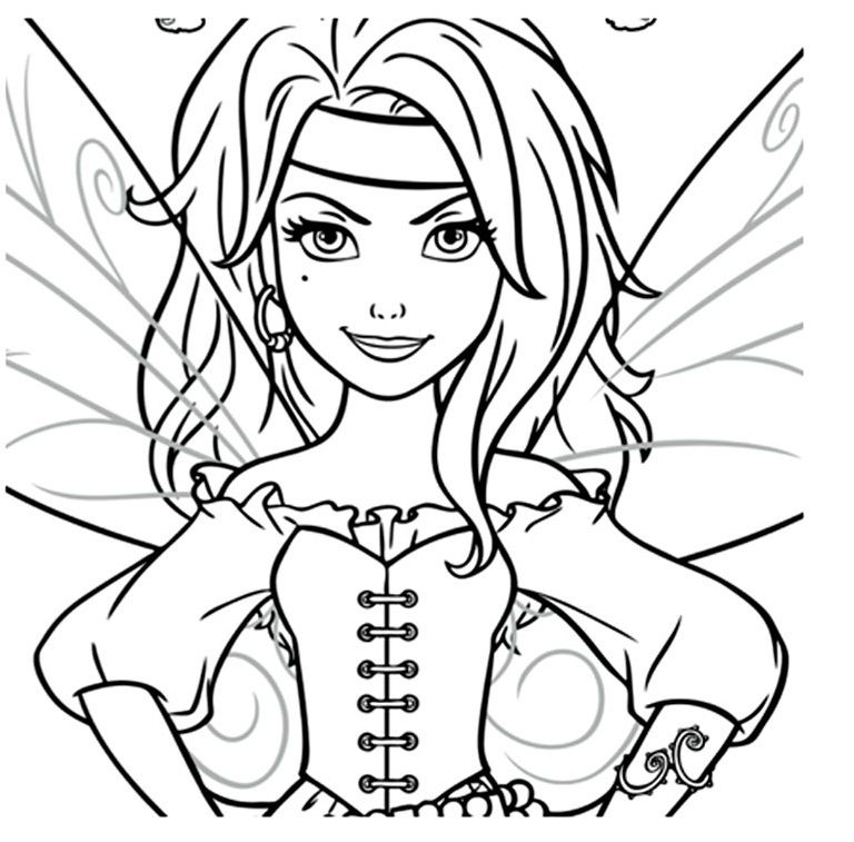 Clochette Pirate Coloriage Omalovánky Pirate Coloring