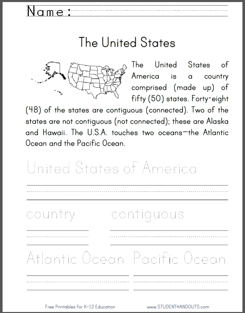 united states worksheet for primary grades kids read an informational text on the u s a then. Black Bedroom Furniture Sets. Home Design Ideas