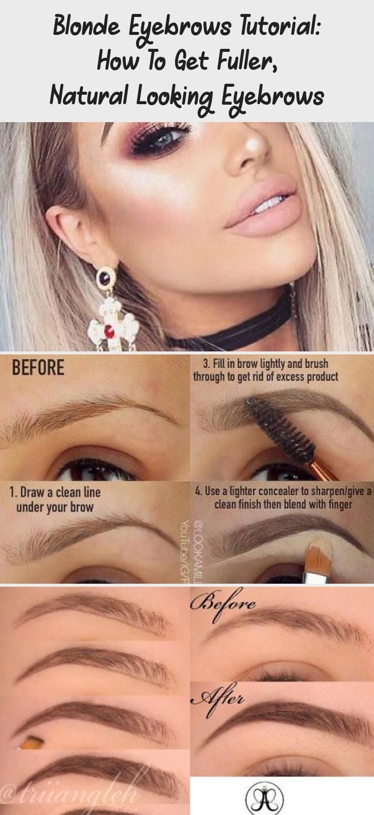 Blonde Eyebrows May Be Not So Easy To Deal With But There Is Nothing Impossible In This Life Besides We Are Always In 2020 Eyebrow Tutorial Blonde Eyebrows Eyebrows