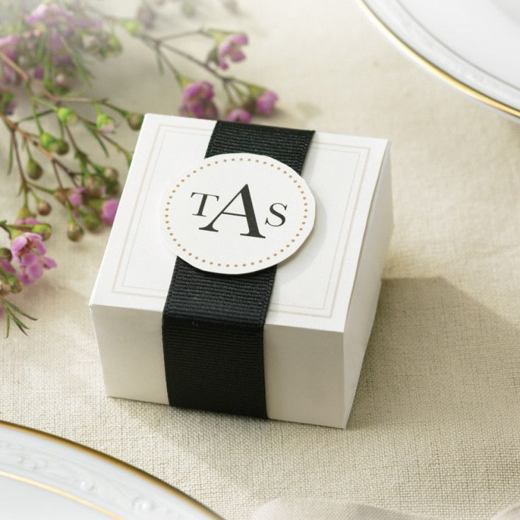 Exclusively Weddings Elegant Ivory Wedding Favor Boxes 50 Boxes 50