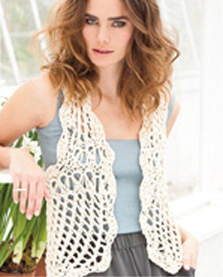Beginner Crochet Vest Pattern : free crochet vest patterns for beginners Free Vest ...
